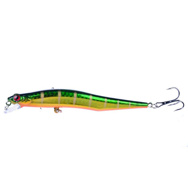 12 CM/12G เลเซอร์ Minnow ตกปลา Wobblers เหยื่อประดิษฐ์ปลอมเหยื่อ Pesca Treble Hooks ดำน้ำ 0.5-1.8 m Crankbaits Swimbait