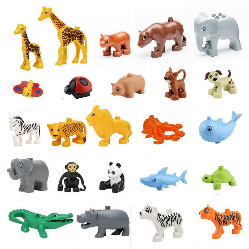 مكعبات بناء حيوانات ، لعبة ، زرافة ، فيل ، باندا ، أسد ، قرد ، تمساح ، فرس النهر ، بطريق ، أخطبوط ، نمر ، حوت ، قرش