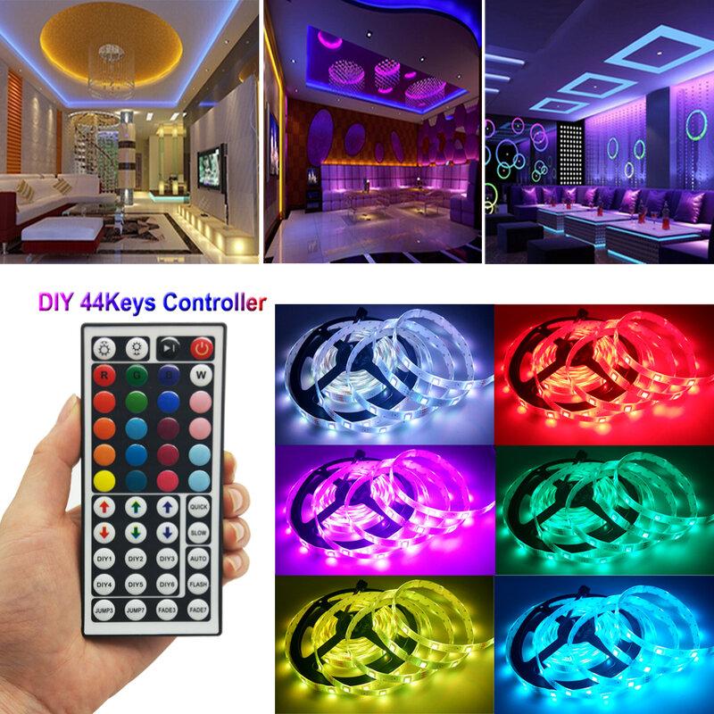 RiRi Won-tira de luces Led RGB 5050 SMD, cinta Flexible de 12V de CC, 60led/M, 4M, 9M, cinta de alimentación diodo, conjunto de alimentación CA