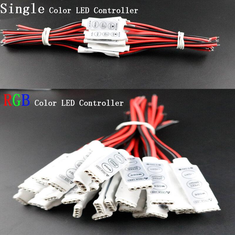 12 V Mini 3 Chiavi Singolo Colore RGB LED Controller Brightness Dimmer per led 3528 5050 luce di striscia shipp Libero Caldo All'ingrosso 1 PZ DJ