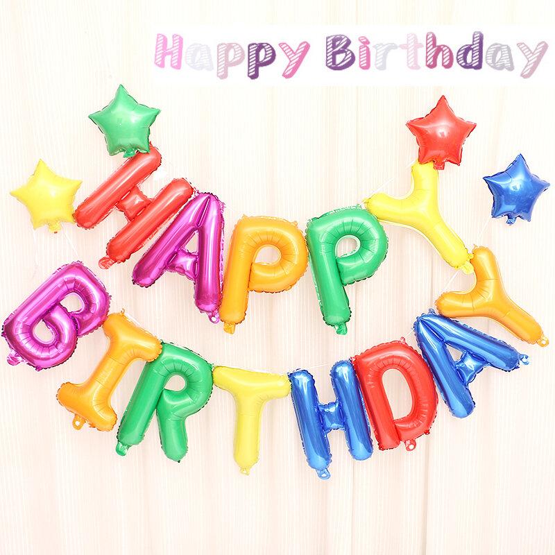 Ballons en aluminium pour fête, 13 pièces par lot, décorations pour fête, à air, pour enfants et enfants, en lettres d'alphabet