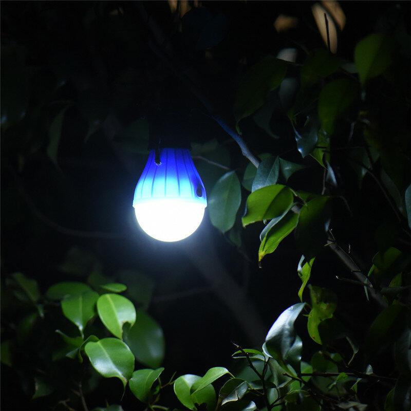 Esterno portatile Appeso 3LED Lanterna di Campeggio, morbida Luce LED Luci del Campo Della Lampada Della Lampadina Per La Tenda di Campeggio di Pesca 4 Colori, Batteria AAA