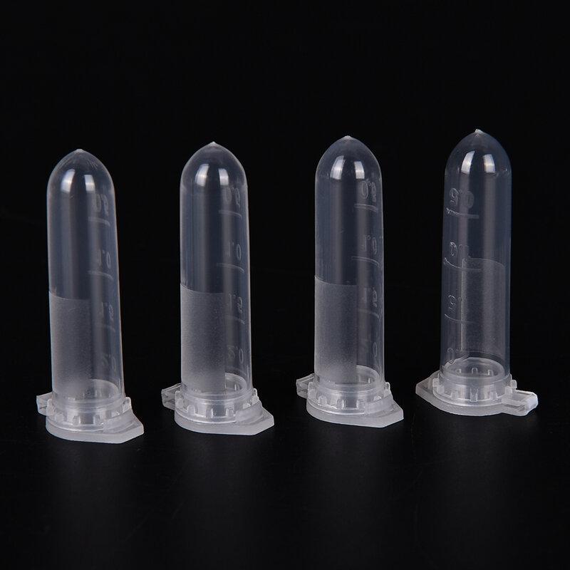 100Pcs Micro Provetta da centrifuga Tubi di Prova Fiala Fiale di Plastica Trasparente Contenitore Snap Cap Per Del Campione di Laboratorio Campione Forniture 2ML