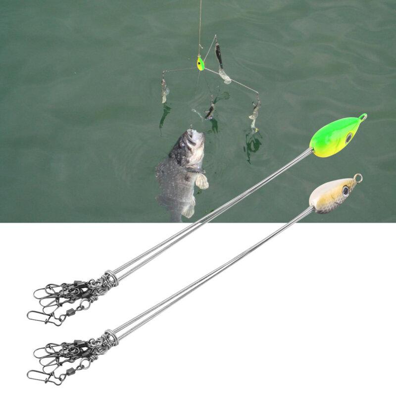 Outdoorsสะดวกปลาเหยื่อตะขอตกปลาสแตนเลสอุปกรณ์Multifunctional Fishing Tackle Combination