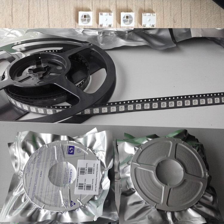 2pcs 1500pcs Led 선박 SK6812 5V DC 주소 지정 미니 3535 5050 SMD RGB 풀 컬러 램프 구슬 픽셀 화이트/블랙 PCB WS2812B IC