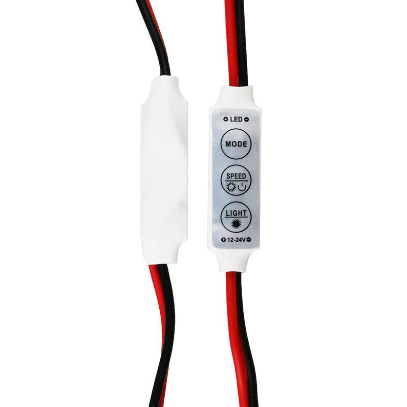 جديد 12V البسيطة 3 مفاتيح لون واحد LED السطوع المراقب ديمر ل led 3528 5050 قطاع ضوء الجملة 1 قطعة DJ