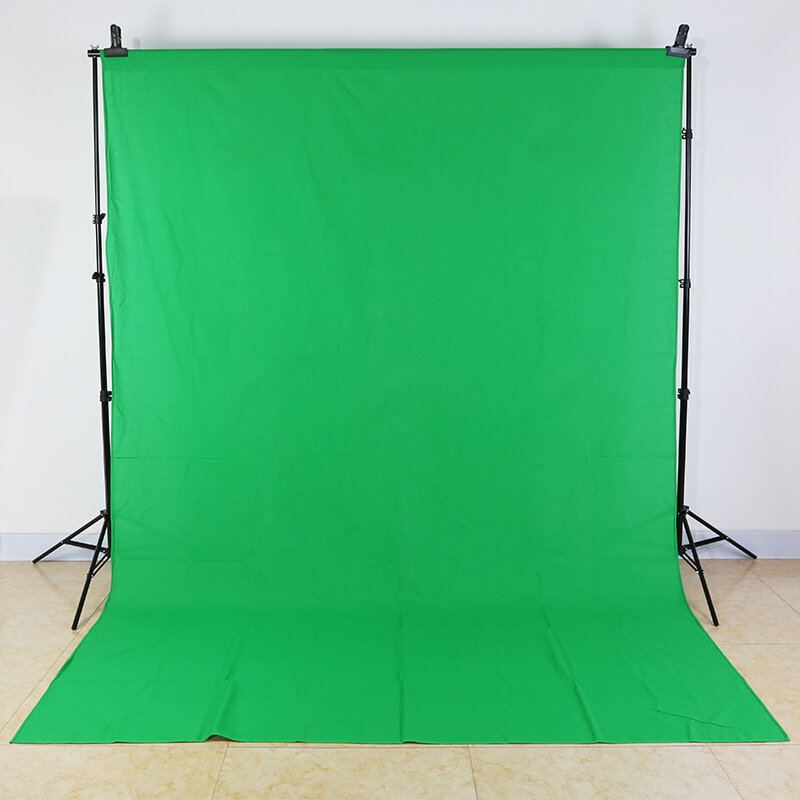 3X2Mสีเขียวหน้าจอถ่ายภาพฉากหลังผ้าฝ้ายMuslinพื้นหลังสำหรับPhoto Studioพื้นหลังChromakey