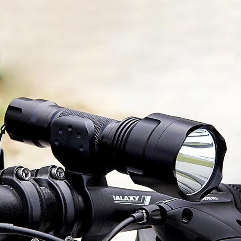 Lampe de poche puissante 1 mode tactique flash lumière XML T6 XM-L2 torche LED étanche flash lumière chasse batterie 18650 Rechargeable