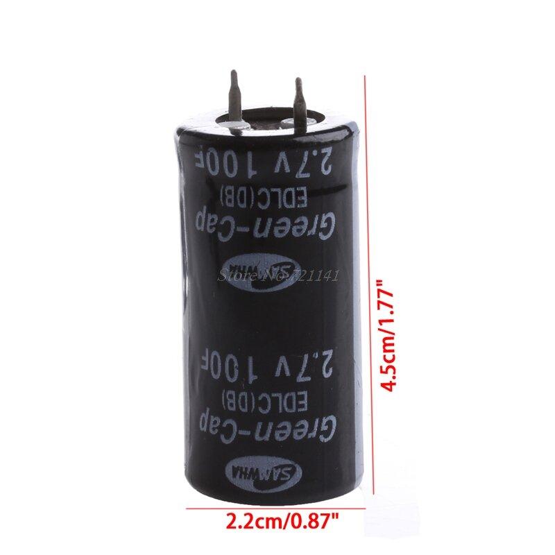 2Pcs Super Kondensator 2,7 V 100F Ultra Kondensator Farad Neue Elektrische Komponenten Schwarz Farbe Dropship