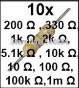 المقاوم عدة مفيد المقاومة المحمولة 10 قيم * 10 قطعة = 100 قطعة ل اردوينو UNO R3 مكونات إلكترونية حزمة
