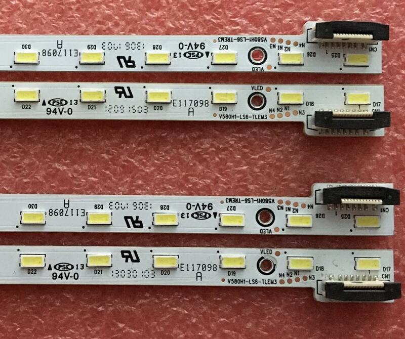 2 unids/lote retroiluminación LED V580H1-LS6-TLEM3 V580H1-LS6-TREM3 para V580HK1-LS6 32LED 360MM