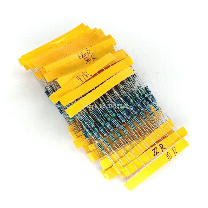 1 팩 300Pcs 10 -1M 옴 1/4w 저항 1% 금속 필름 저항 저항 구색 키트 30 종류 각 10PCS