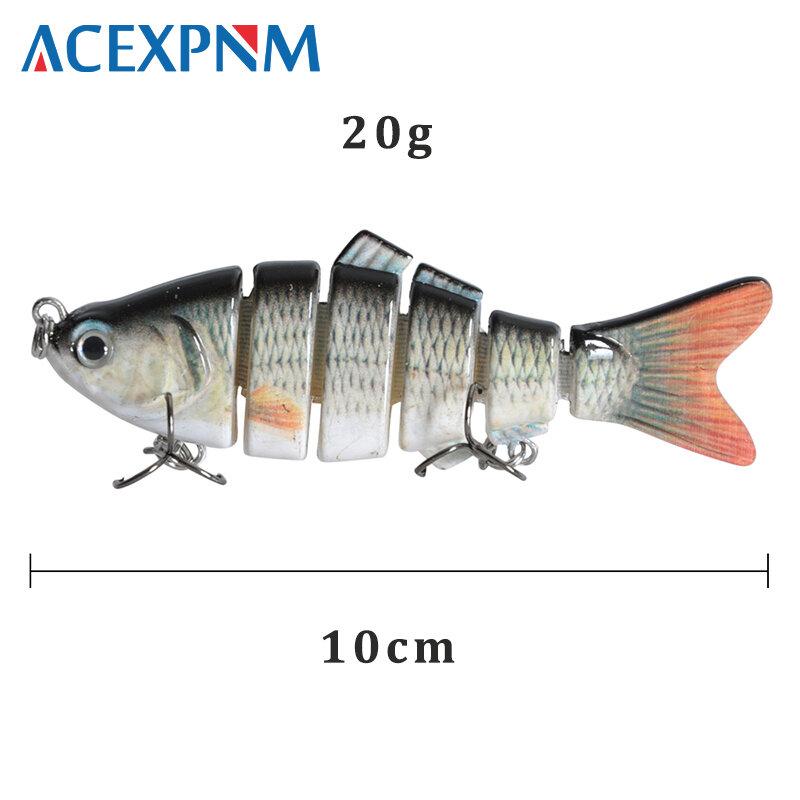 ใหม่ 2019 Fishing Lure Swimbait 10Cm 20G 3Dตา 6-SegmentเหมือนจริงตกปลาHard Lure Crankbaitกับ 2 Treble Hooks