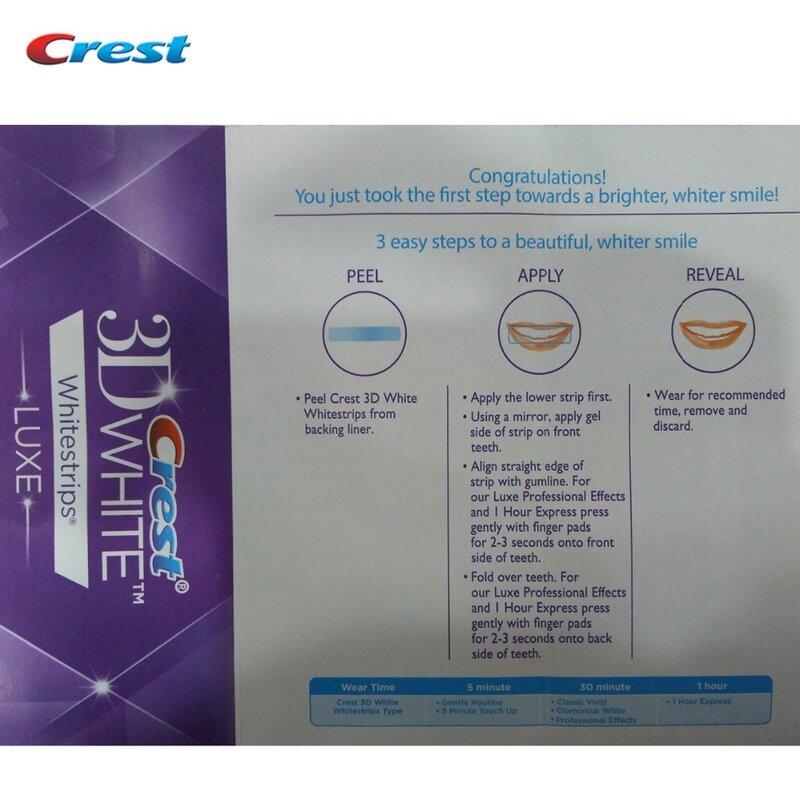 LUXE Crest 3D Whitestrips Blanco Efectos Profesionales Original Dientes Higiene Bucal Blanqueamiento