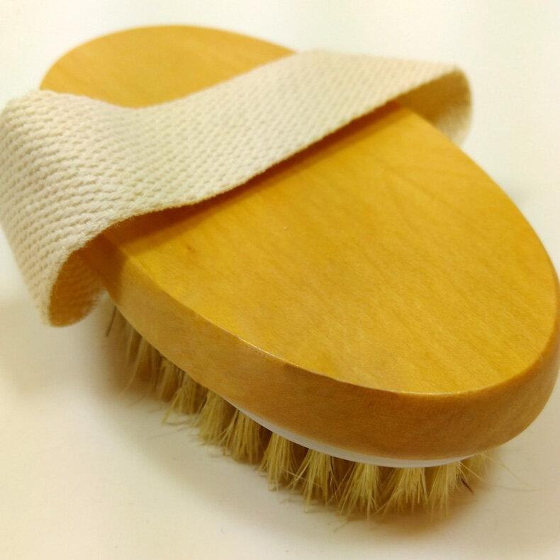 فرشاة الجسم للبشرة الجافة ، شعيرات طبيعية ، مقبض ناعم ، فرشاة سبا ، بيع TB