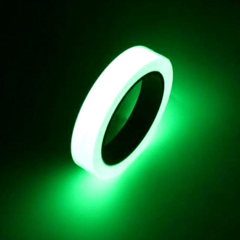 10M 10/12/15/20/25mm nastro luminoso nastro di avvertimento autoadesivo visione notturna bagliore nel buio sicurezza sicurezza nastri per la decorazione domestica
