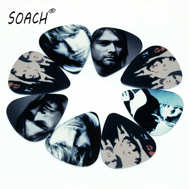 SOACH 10 stücke 0,71mm gitarre picks zwei seite ohrringe pick DIY design gitarre zubehör pick gitarre picks gitarre strap