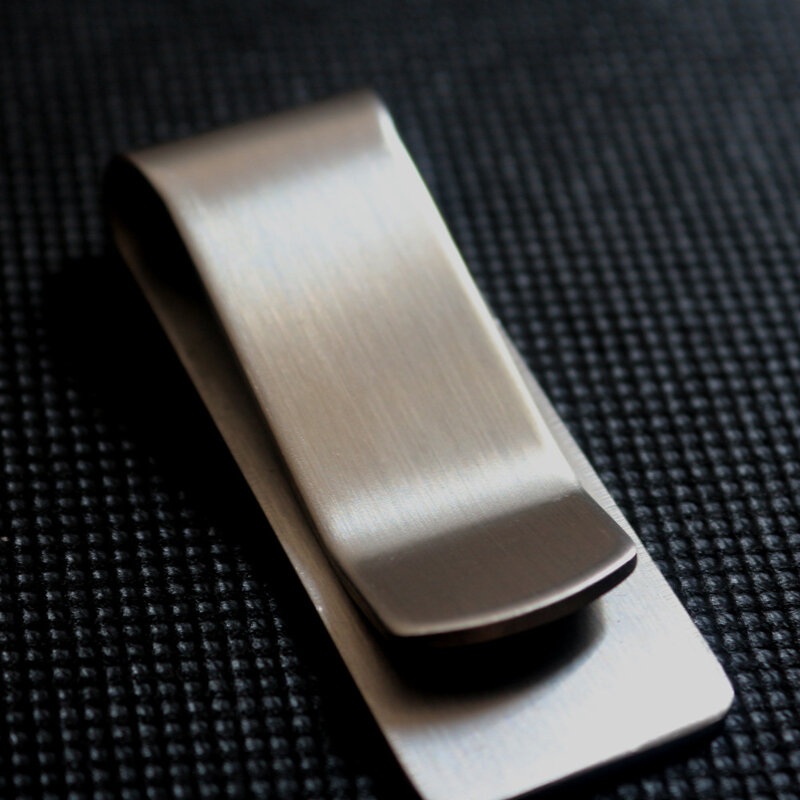Clip de Metal de acero inoxidable de alta calidad para dinero para hombre, cartera sencilla con Clip de sujeción de dinero para dólar dorado plateado