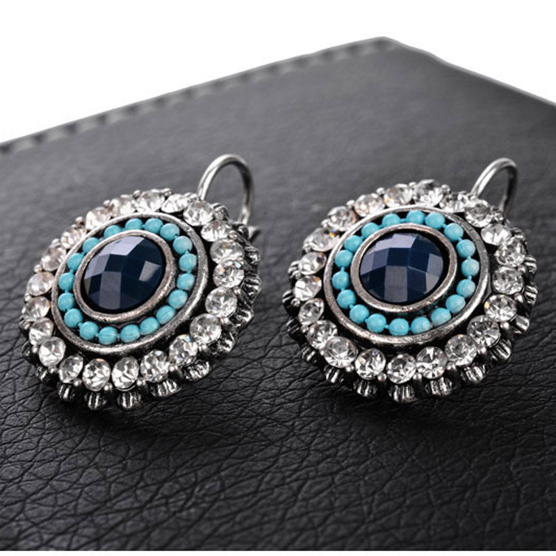 Shineland-أقراط بوهيمية صغيرة للنساء ، مجوهرات عتيقة منحوتة على الطراز البوهيمي ، 2021