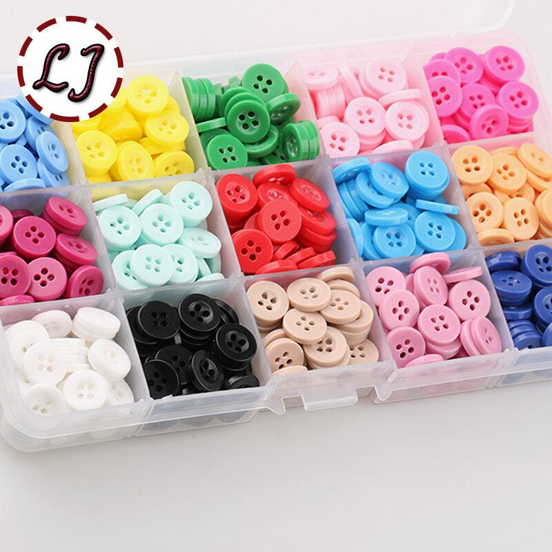 """ใหม่100ชิ้น/ล็อตขนาดเล็กเรซิ่นปุ่มรอบสี่หลุม10มม.(2/5 """") เย็บบนOry Scrapbookingสำหรับเด็กผ้าCandy ColorsDIY Access"""