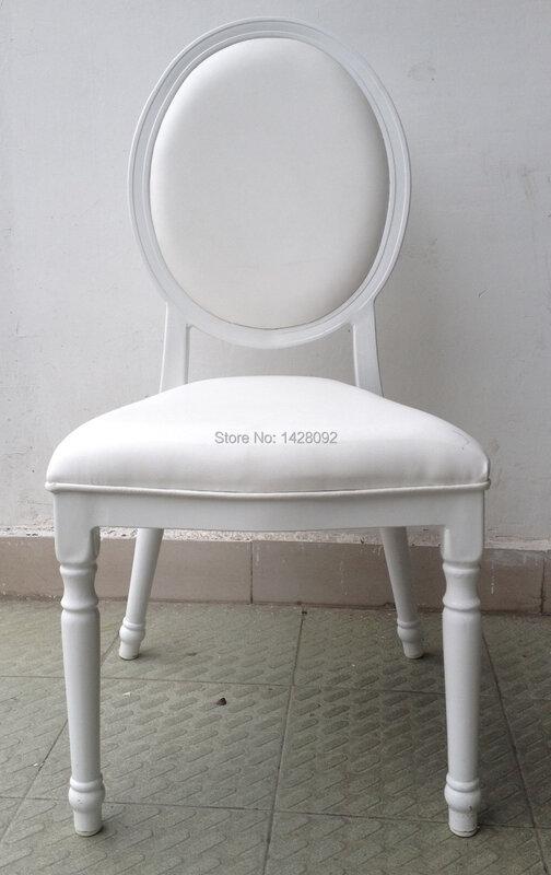 สีขาวหุ้มเบาะอลูมิเนียมงานแต่งงานเก้าอี้LQ-L9999