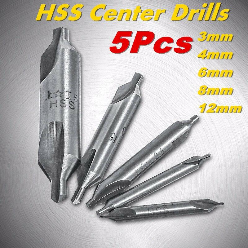 عالية الجودة 5 قطعة 60 درجة بت HSS مجتمعة مركز تدريبات التوسيع مجموعة أداة