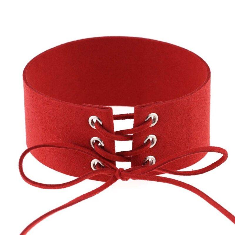 Spitze Up Halsband Schwarz Samt Halsband Halskette Frauen Gothic Colliers Neck Boho Schmuck Harajuku Big Chunky Halskette Collier