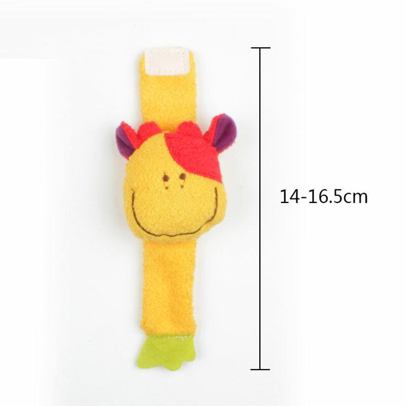 1Pc Tier Baby Spielzeug 0-12 Monate Plüsch Baby Rasseln Baby Spielzeug Handgelenk Riemen Kinder Infant Neugeborenen Plüsch spielzeug