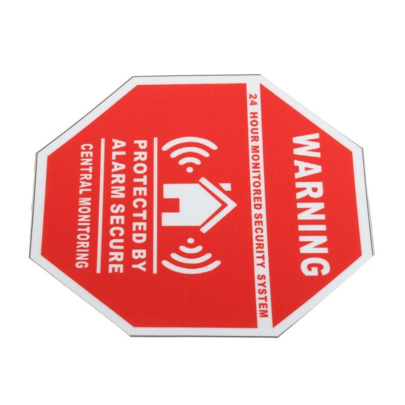 5Pcsบ้านAlarm Securityสติกเกอร์/ป้ายDecalsสำหรับWindowsประตูใหม่