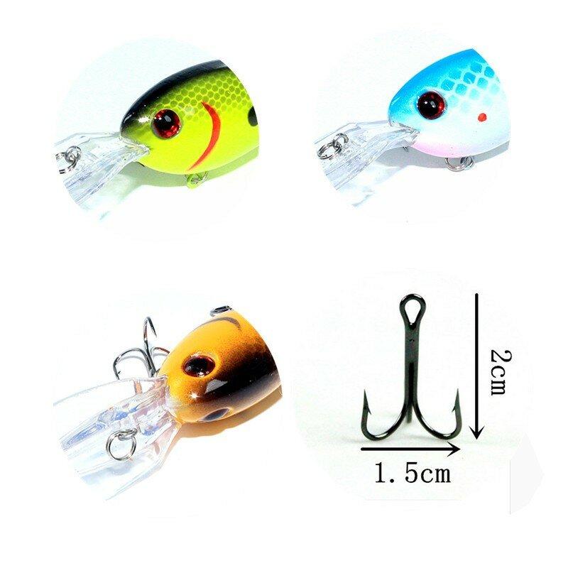 KKWEZVA 15G 10.5 ซม.Big Temptation เหยื่อตกปลา Minnow Crank เหยื่อ Crankbait Bass Tackle Treble Hook เหยื่อ wobblers ตกปลา