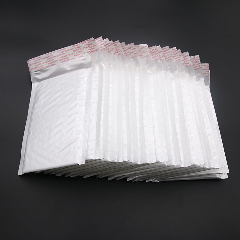 كيس فقاعات بولي أبيض ، 50 قطعة ، مساحة بناء ، استخدام تغليف ناعم 11 × 15 سم 4 سنتيمتر