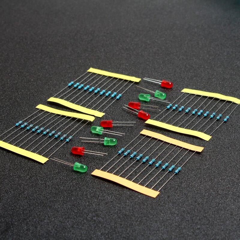 1/4W 220 OHM 1K 10K 100K resistencia Kit para Arduino Raspberry Pi