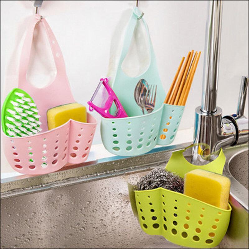 Küche Hängen Ablauf Tasche Korb Bad Lagerung Gadget Werkzeug Waschbecken Halter Bad Seife Hängen Regale Wasser Wasserhahn Wäsche Korb