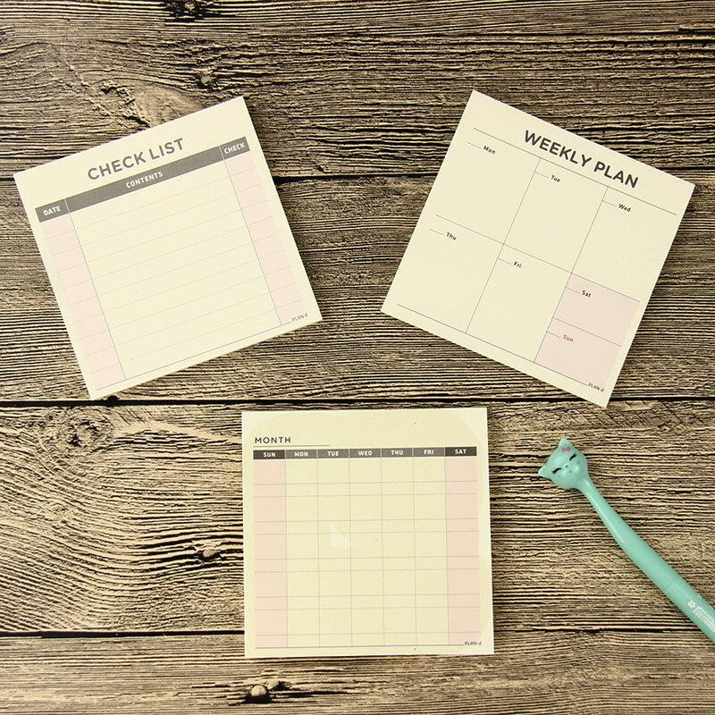 1 PC Carino Kawaii Settimanale Mensile Lavoro Planner Libro del Diario Agenda Filofax Per La Scuola I Bambini
