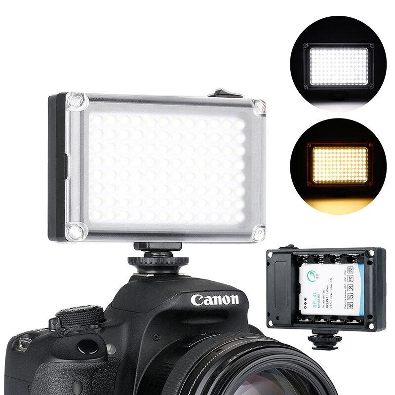 Ulanzi 96 On Camera LED Luce Video Photo Studio DSLR di Illuminazione con Fredda Shoe Mount per Nikon Canon Sony Pentax luce di riempimento