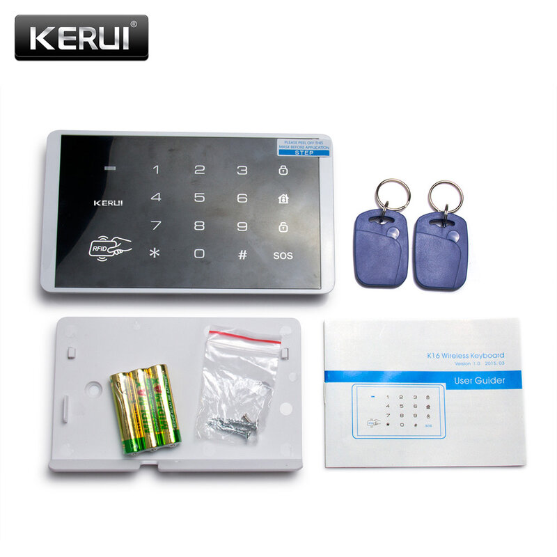 KERUI-لوحة مفاتيح لاسلكية تعمل باللمس مع RFID ، 433 ميجاهرتز ، لنظام إنذار أمن الوطن G18 W18 W20 K52 PSTN GSM WIFI
