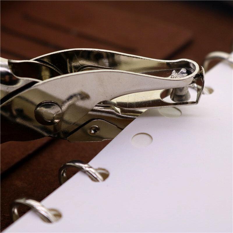 โรงเรียนสำนักงานโลหะ Single Hole Puncher กระดาษ Punch Single Hole Scrapbooking Punches 8หน้าวัสดุโลหะ1-2 Pcs