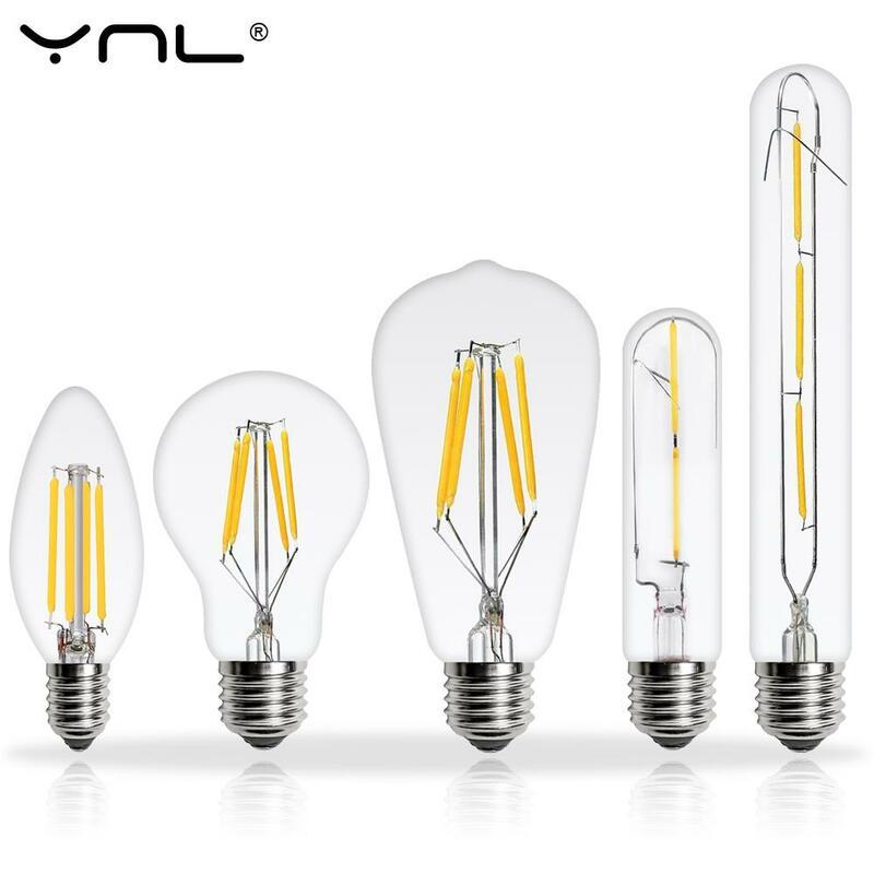 E14 E27 LED Edison Ampoule 220V 2W 4W 6W 8W Antique Rétro ST64 G95 Vintage LAMPE À LED Ampoule À Filament Vintage Pendentif D'ampoule en verre