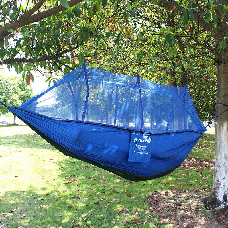 مزدوج المظلة البعوض أرجوحة شبكية كرسي السياحة Flyknit Hamaca Hamak Rede أرجوحة حديقة التخييم Amaca Hangmat النوم Hamac