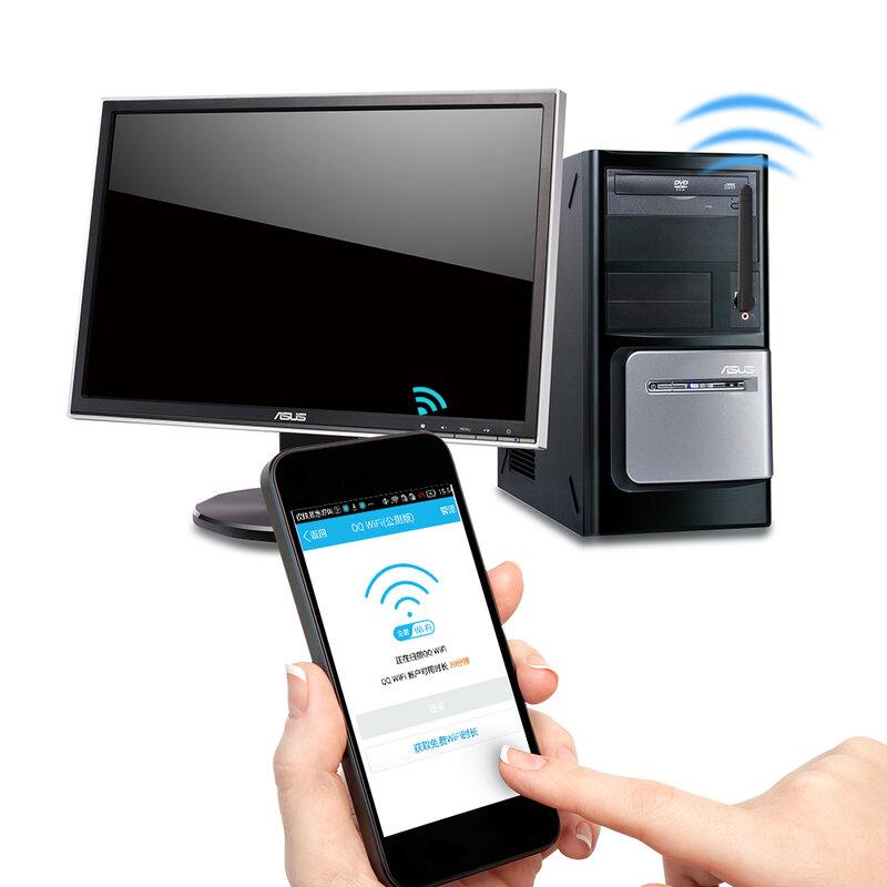 Ralink-بطاقة شبكة لاسلكية WiFi RT5370 ، 150 م ، USB 2.0 ، 802.11 b/g/n LAN ، محول هوائي دوار وحزمة بيع بالتجزئة XC1290