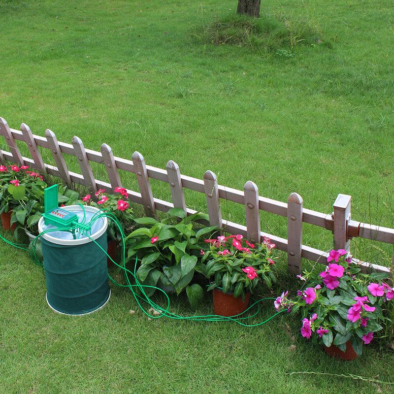 Sistema de riego por goteo con controlador inteligente para el hogar, microgoteo automático para casa, con controlador, para jardín, bonsái, para interior, 22018