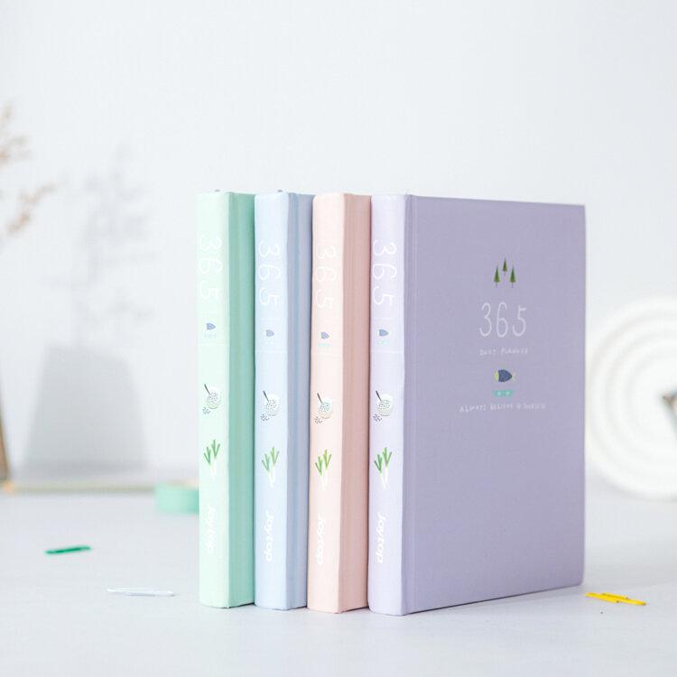 Calendrier de fleurs coréen, planificateur hebdomadaire et annuel, carnet de notes, Kawaii, Agenda 2019, papeterie