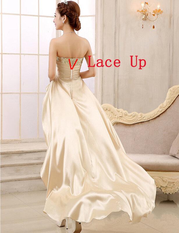 ไม่สมมาตรชุดเจ้าสาว 2016 Sweetheart สั้นด้านหน้ากลับพรหมชุด Royal Blue vestido de festa robe de soiree