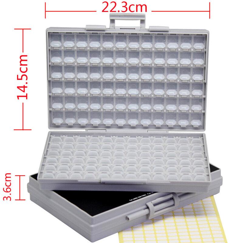 AideTek-صندوق الأدوات البلاستيكية ، صندوق تخزين إلكترونيات SMD ، 2 وحدة من المقاوم ، 0603 0402 0805 1206
