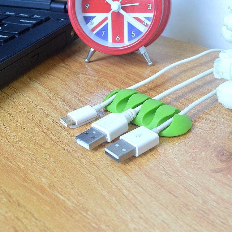 ZUCZUG-Enrollador de cables de alta calidad para auriculares, organizador de cables, almacenamiento de cables, cargador de silicona, Clips de soporte para MP3 ,MP4 y auriculares