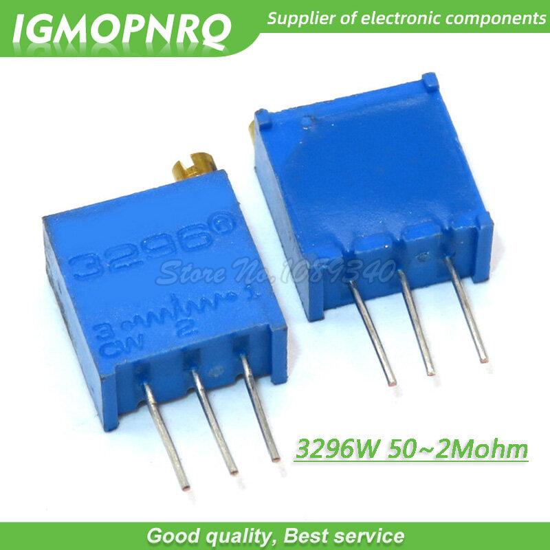 10 قطعة/الوحدة 3296W سلسلة 3296W 103 10K أوم أعلى تنظيم Multiturn المتقلب الجهد 1K 2K 5K 20K 50K 100K 200K 3296W-1-103LF
