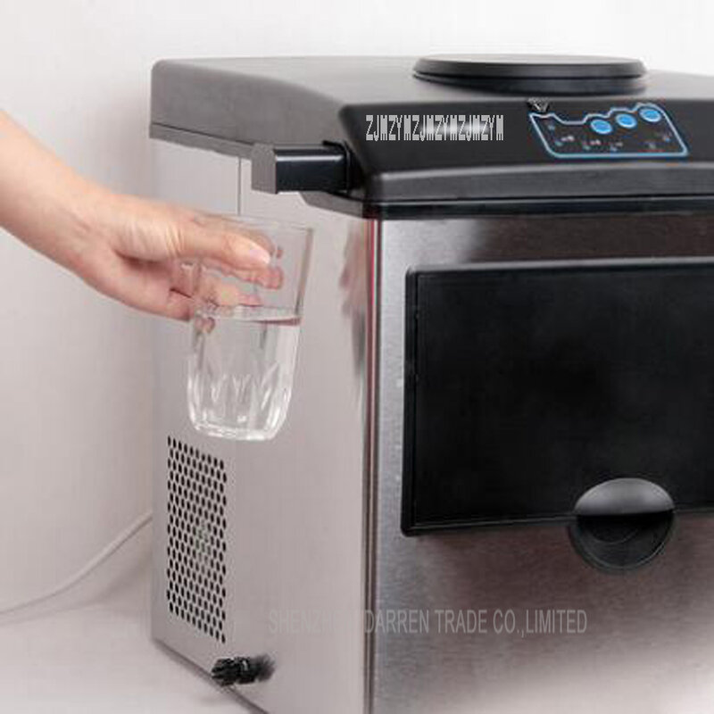 Il cubetto di ghiaccio elettrico della pallottola della famiglia del piccolo creatore di ghiaccio automatico 25KG fa la macchina per uso domestico, Bar, caffetteria HZB25