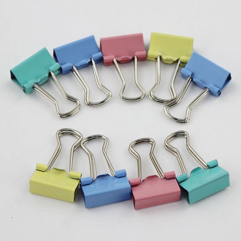 60 teile/los 15mm Bunte Metall Binder Clips Papier Clip Büro Schreibwaren Verbindliche Lieferungen