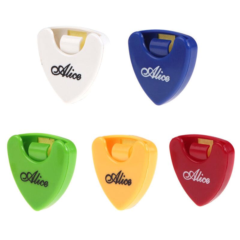 1 قطعة أليس الغيتار اختيار حامل حالة الوسيط سريعة تخزين الريشة حالة