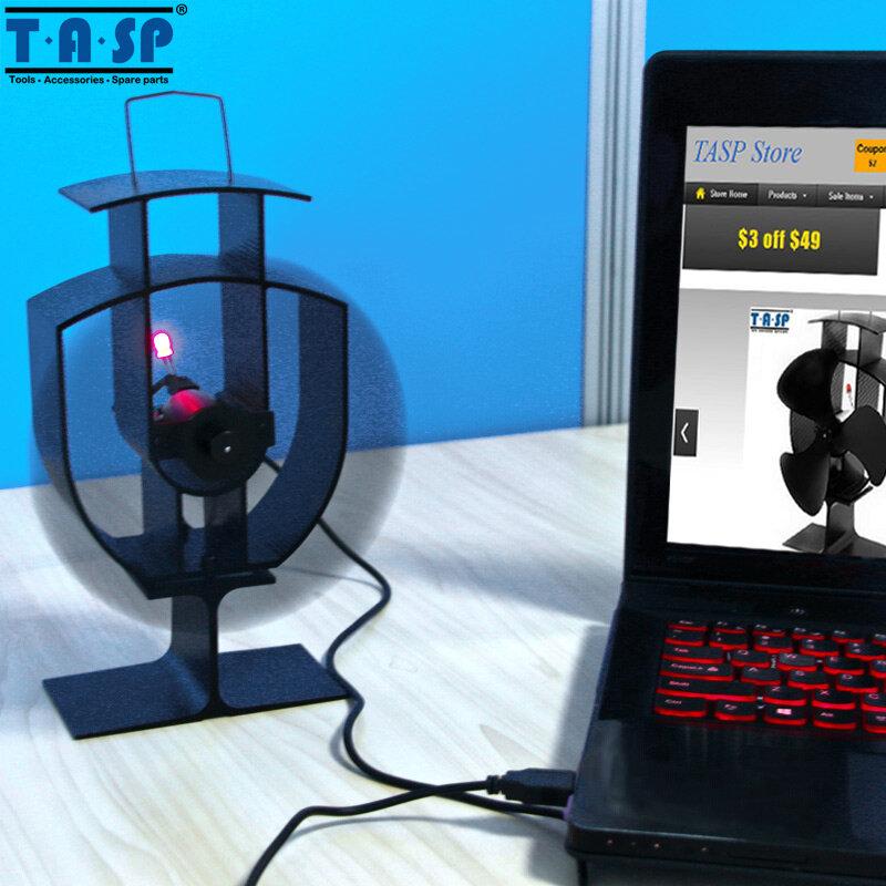 TASP-مروحة موقد صديقة للبيئة متعددة الوظائف مقاس 6 بوصات 150 مللي متر ومروحة USB صغيرة لحرق الأخشاب